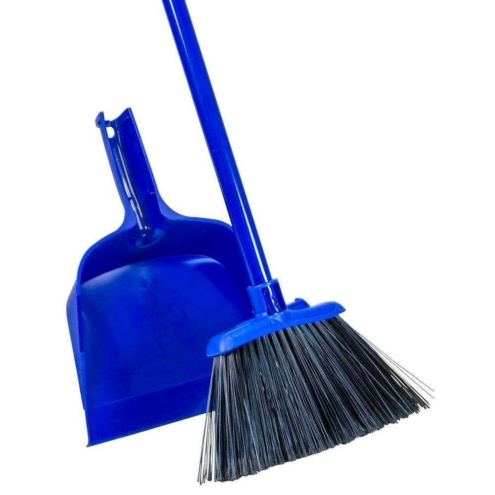Angle-Cut Broom and Dust Pan