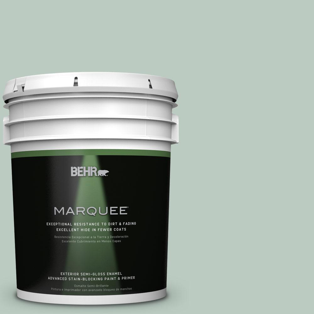 5-gal. #QE-42 Antiqued Aqua Semi-Gloss Enamel Exterior Paint