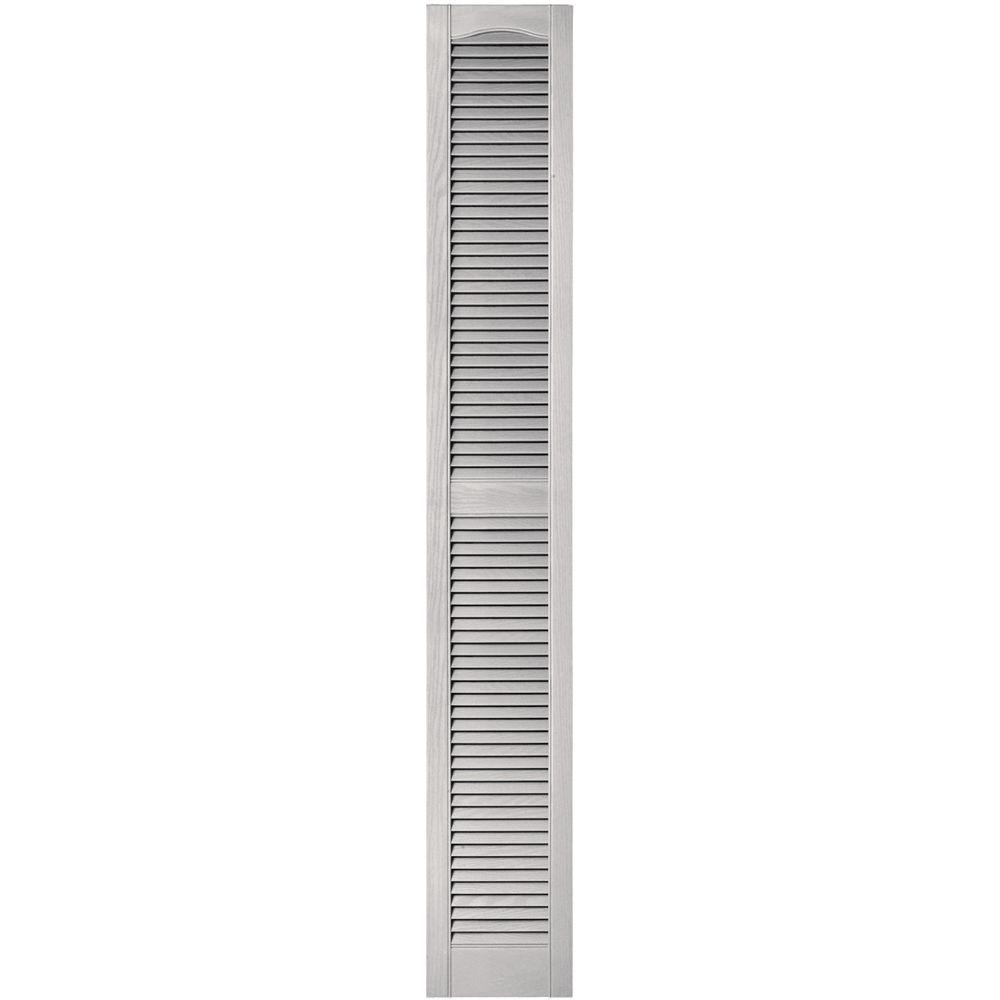 Charmant Louvered Vinyl Exterior Shutters Pair In #