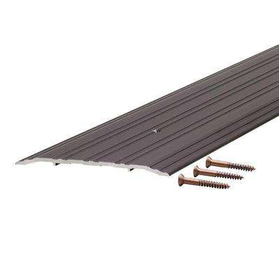 TH042 1/4 in. x 5 in. x 72 in. Bronze Fluted Saddle Threshold