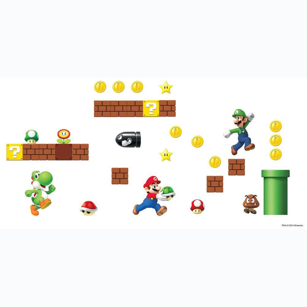 5 In. X 11.5 In. Nintendo   Super Mario Build A Scene Peel And