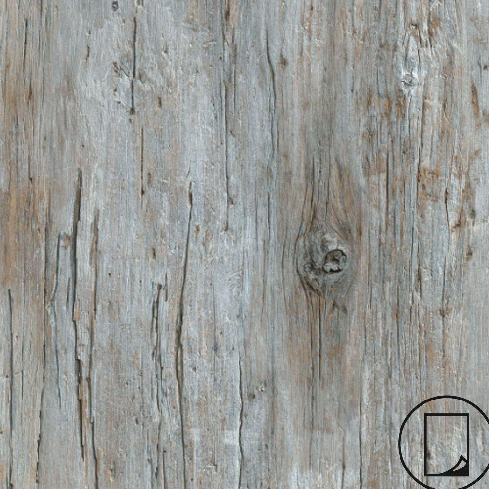 Wilsonart 2 ft. x 4 ft. Laminate Sheet in RE-COVER Factory Antique Wood with Virtual Design SoftGrain Finish
