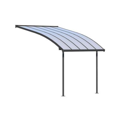 Joya 10 ft. x 10 ft. Grey Patio Cover Awning