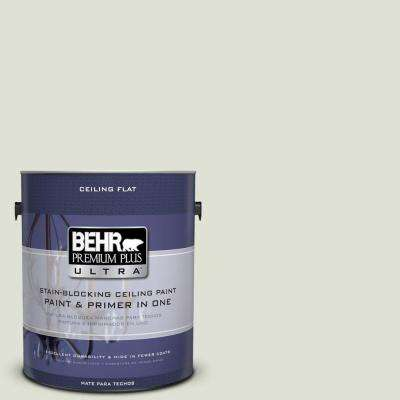 1 gal. #PPU10-12 Ceiling Tinted to Whitened Sage Flat Interior Paint and Primer in One