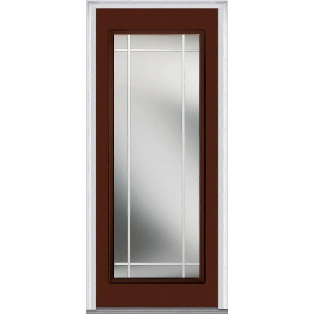 30 x 80 front doors exterior doors the home depot - 30 x 80 exterior door with pet door ...