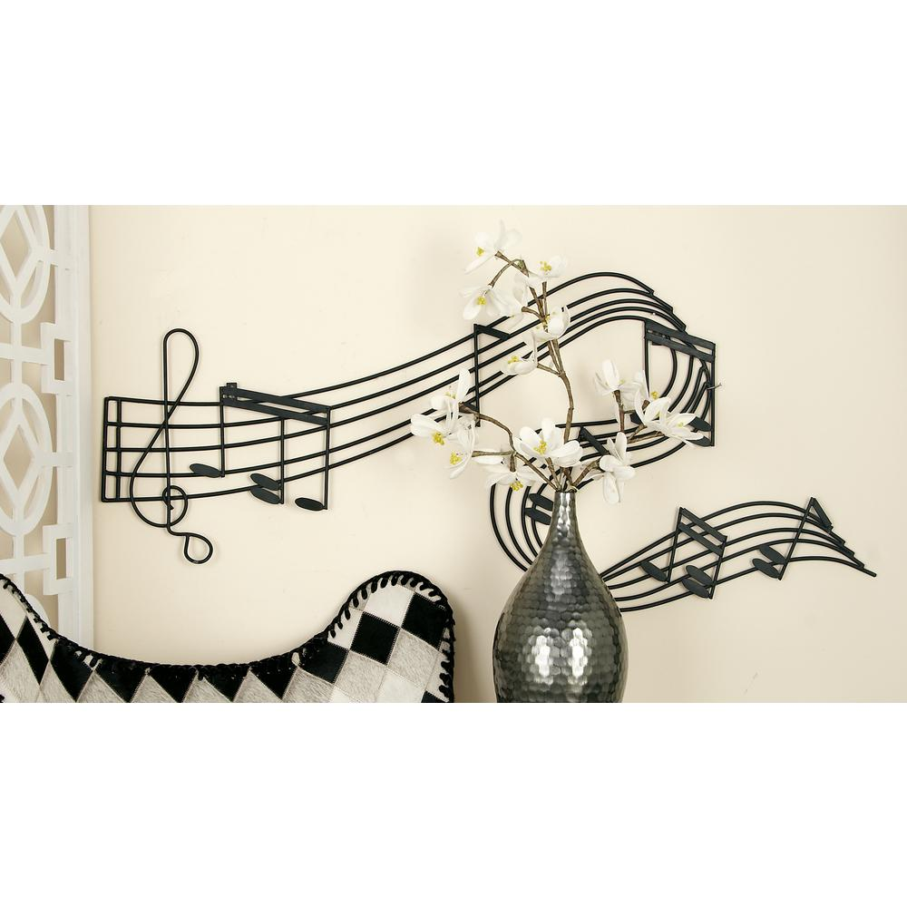 Iron Black and Gold Music Note Wall Decor-30058 - The Home Depot