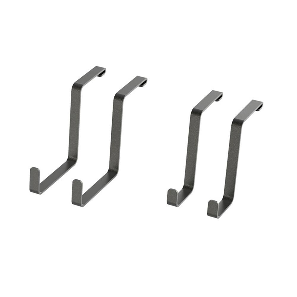 VersaRac 8.5 in. H x 4 in. W x 14 in. D Ceiling Mounted Steel 4-Piece Accessory Kit S-Hooks in Gray