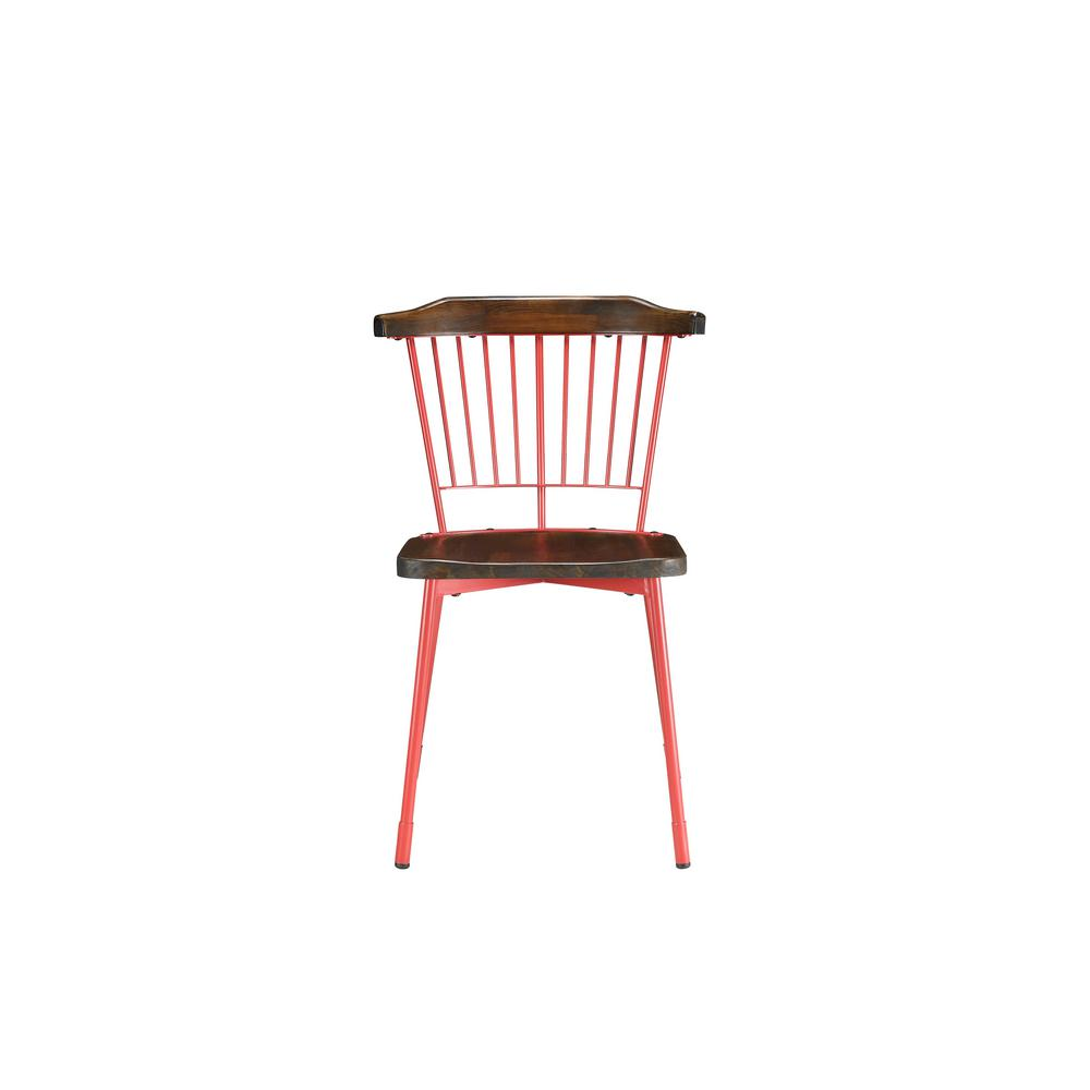 Orien Red and Brown Oak Side Chair (Set of 2)