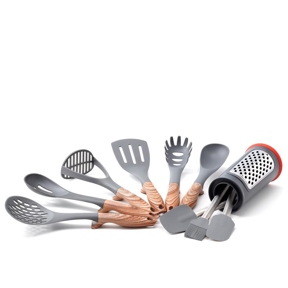 Old Dutch 11 Pc Hanging Kitchen Tools Set With Caddy 1518 The Home Depot
