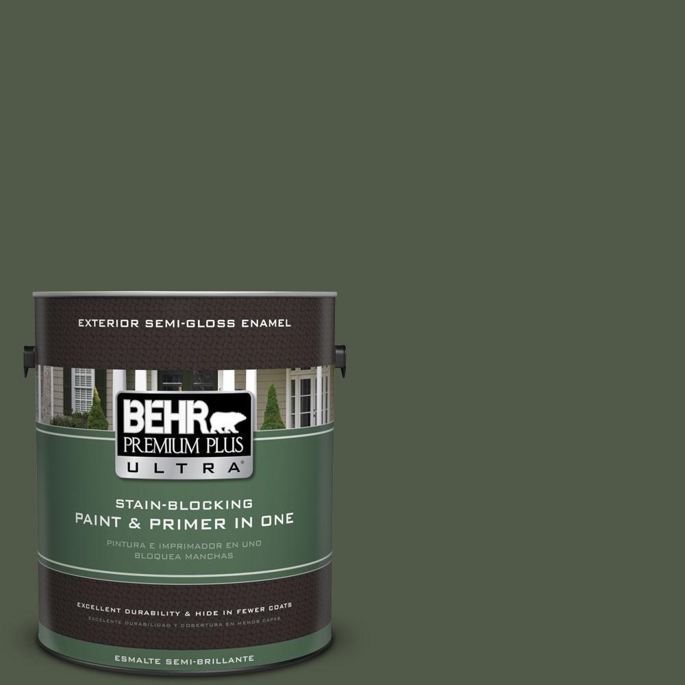 1-gal. #430F-7 Windsor Moss Semi-Gloss Enamel Exterior Paint
