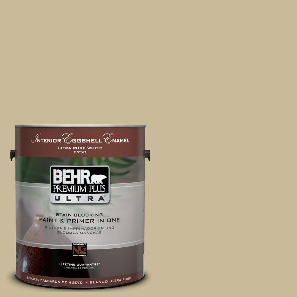BEHR Premium Plus Ultra 1-Gal. #UL180-8 Tea Bag Interior Eggshell Enamel Paint