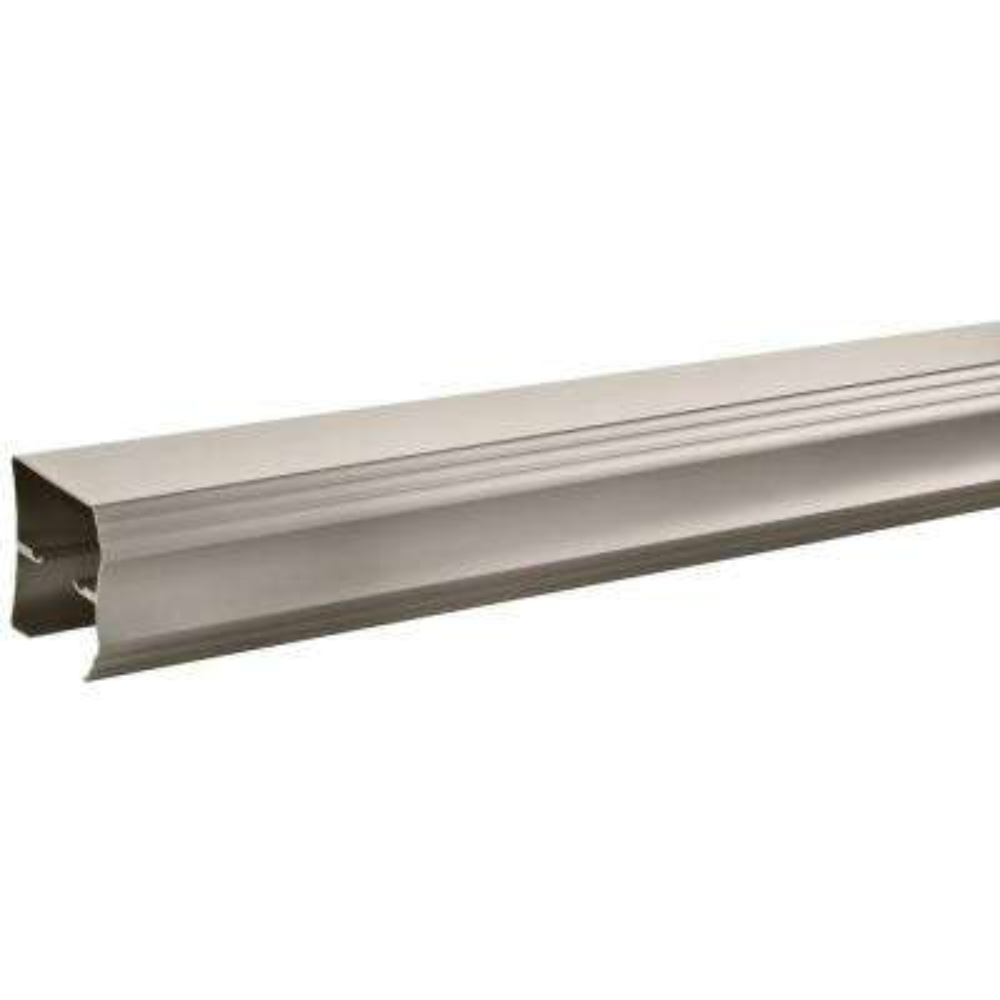 48 in. to 60 in. Semi-Frameless Traditional Sliding Shower Door Track Assembly Kit in Nickel