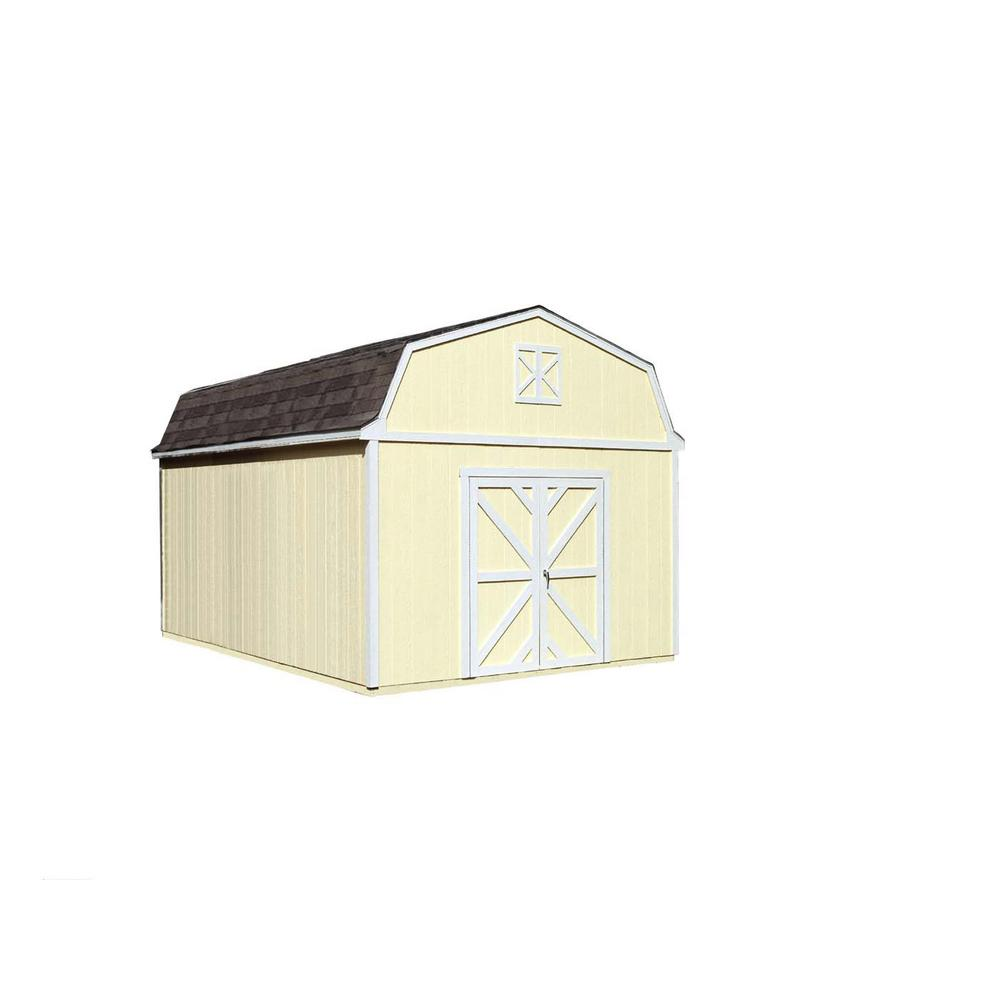 Handy Home Products Sequoia 12 ft. x 16 ft. Wood Storage Building Kit with Floor