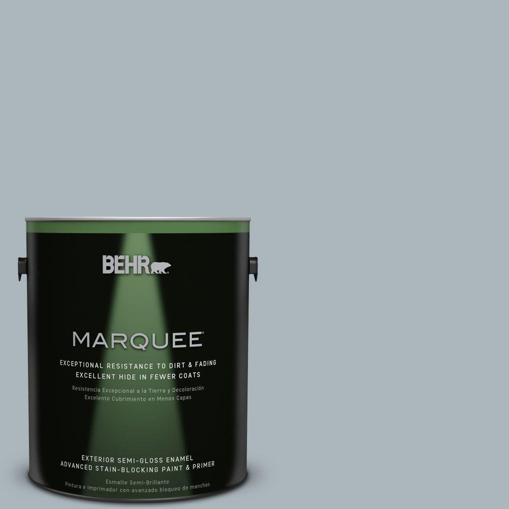 BEHR MARQUEE 1-gal. #N490-3 Shaved Ice Semi-Gloss Enamel Exterior Paint