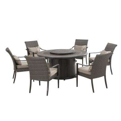 Simone 7-Piece Patio Dining Set with Slate Cushions