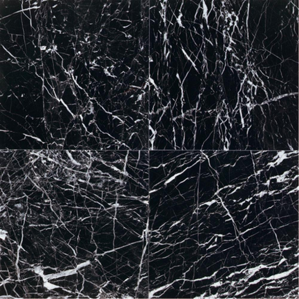 Black Marble Tile : Daltile natural stone collection china black polished