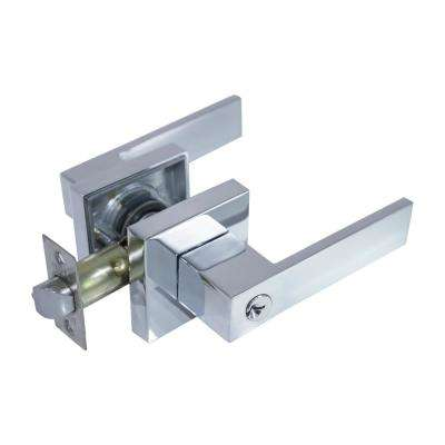 Lisabon Premium Bright Chrome Keyed Entry Door Lever