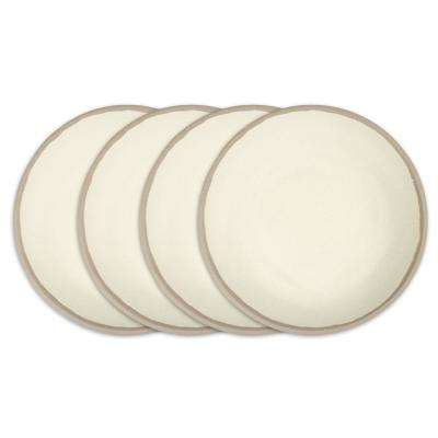 Potter 4-Piece 10 in. Stone Gray Melamine Bamboo Dinner Plate Set