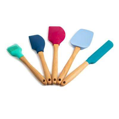 Nostalgia Dark Beachwood Silicone Utensil (Set of 5)