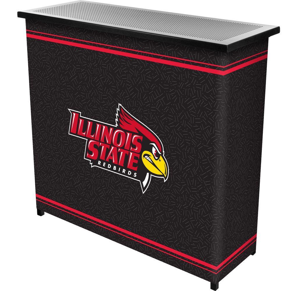 Illinois State University 2-Shelf Black Bar with Case