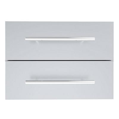 Designer Series Raised Style 18 in. x 13 in. 304 Stainless Steel Double Drawer