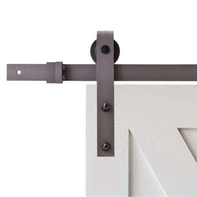 79 in. Classic Bent Strap Barn Style Sliding Door Track and Hardware Set