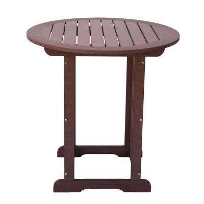 Counter High Chateau Brown Plastic Table