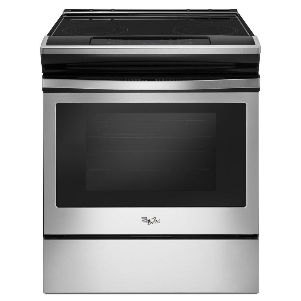 Whirlpool 30 in. 4.8 cu. ft. Slide-In Electric Range in S...