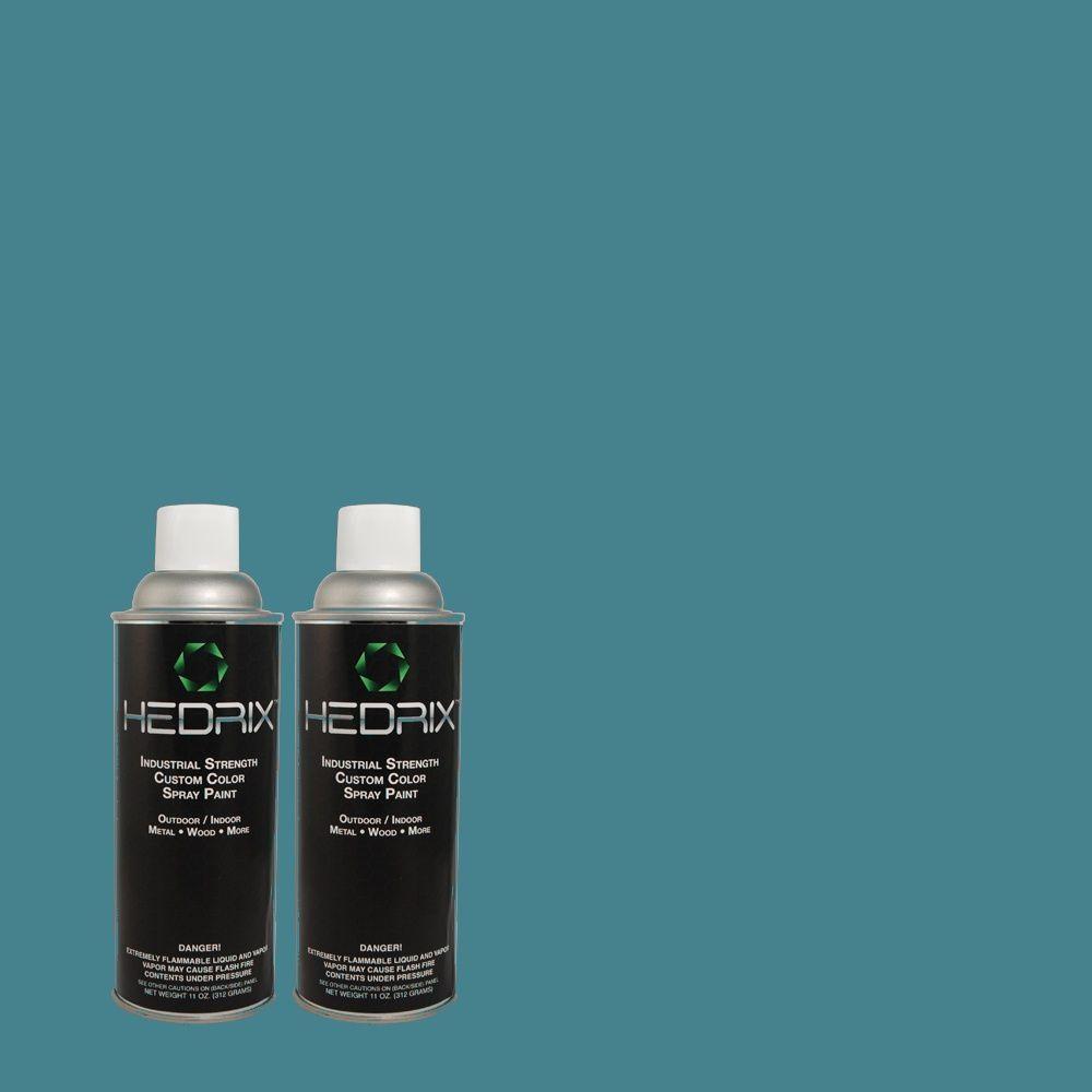 Hedrix 11 oz. Match of 2B46-6 Patrician Blue Semi-Gloss Custom Spray Paint (2-Pack)