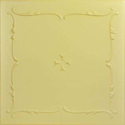 Spring Buds 1.6 ft. x 1.6 ft. Foam Glue-up Ceiling Tile in Concord Ivory