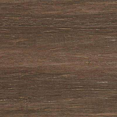 Take Home Sample - Hand Scraped Strand Woven Pecan Click Bamboo Flooring - 5 in. x 7 in.