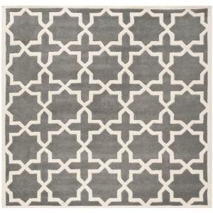 chatham dark greyivory 4 ft x 4 ft square area rug