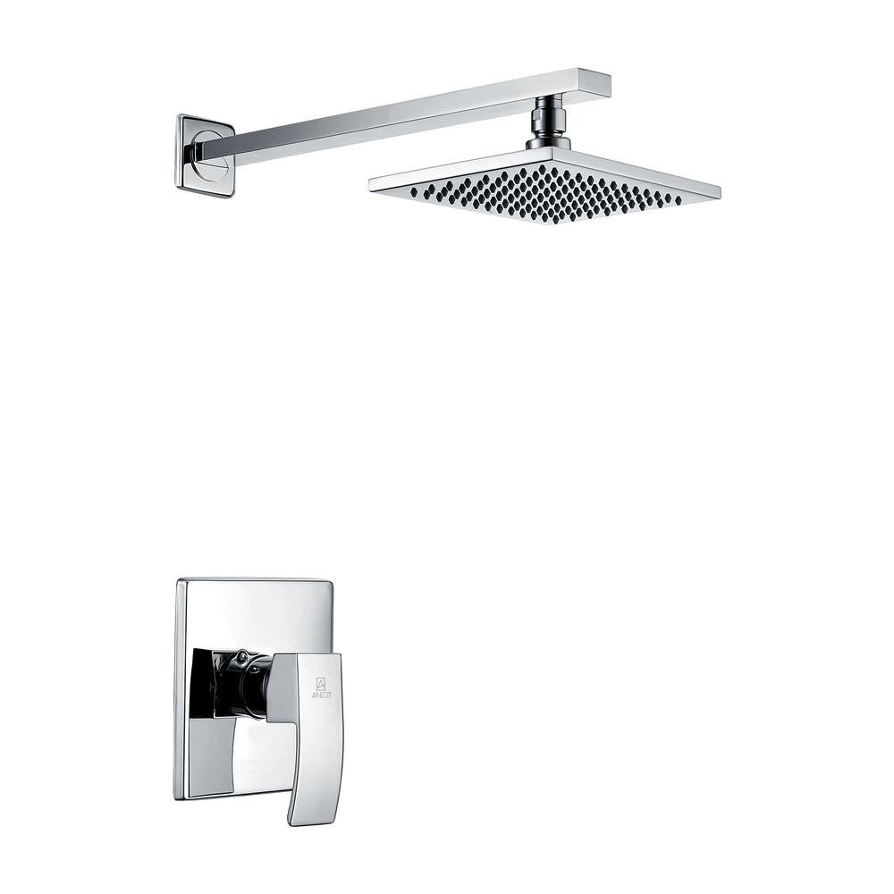 Viace Single Handle 1-Spray Shower Faucet in Polished Chrome (Valve Included)
