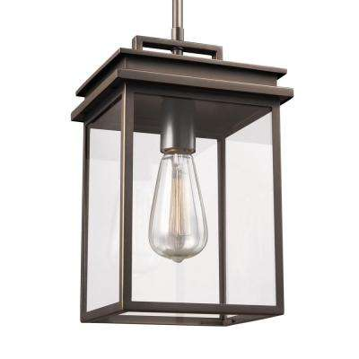 Glenview 1-Light Antique Bronze Outdoor Hanging Pendant Lantern