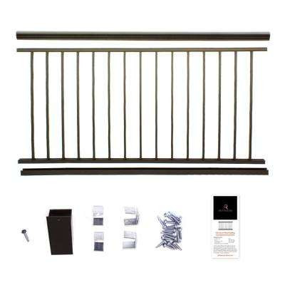 36 in. x 8 ft. Bronze  Powder Coated Aluminum Preassembled Deck Railing
