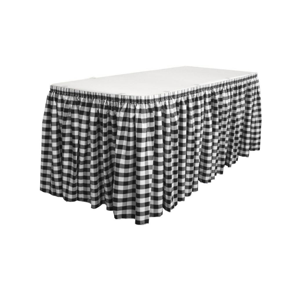 21 ft. x 29 in. Long White and Black Polyester Gingham