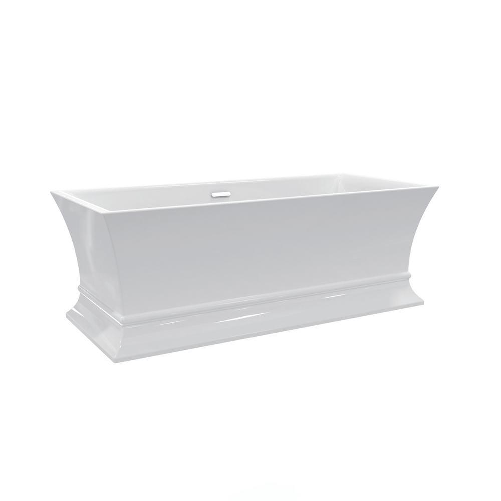 Barclay Products Thayer Acrylic Flatbottom Bathtub Integral Drain Polished Bras Polished Bras Bathtubs