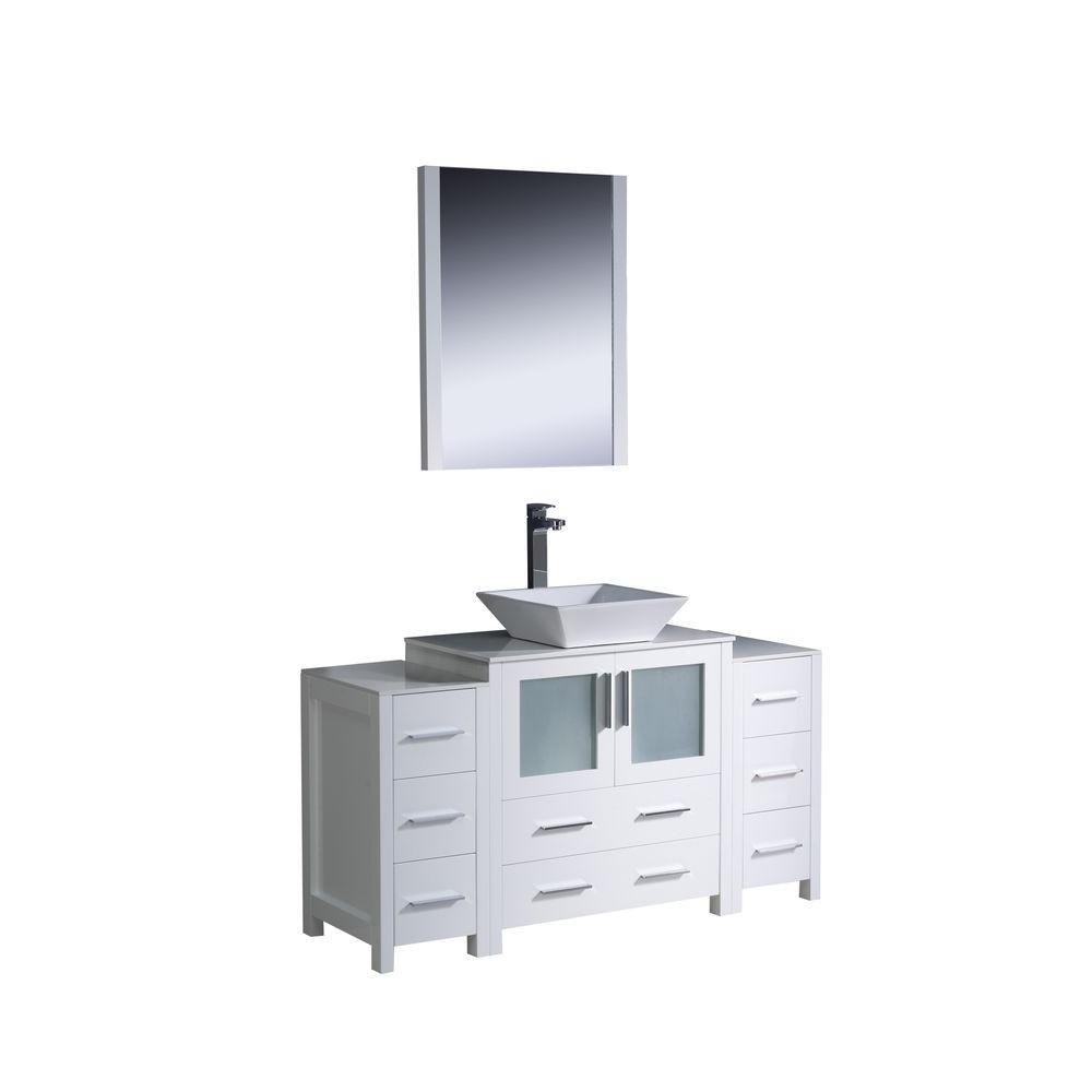 Fresca Kingston 48 In Vanity Antique Silver With Marble Top Carrera White