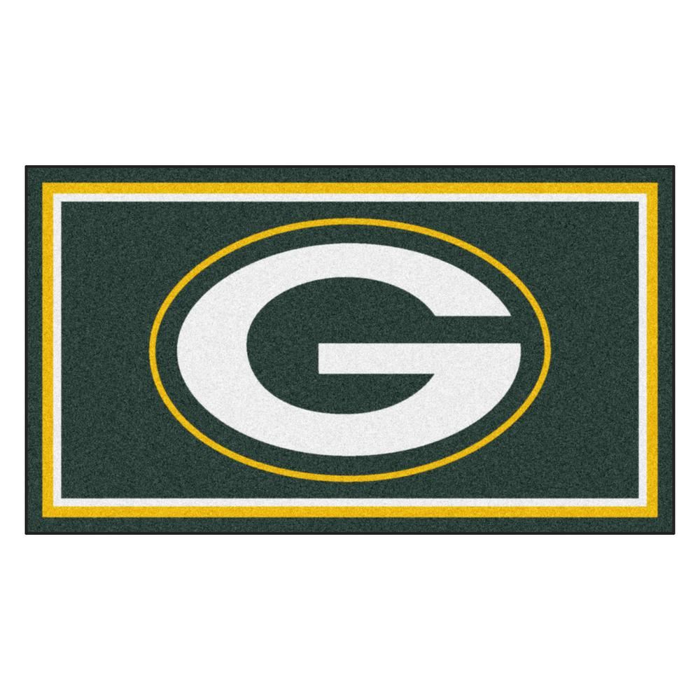8458d3f550a FANMATS NFL - Green Bay Packers 3 ft. x 5 ft. Ultra Plush Area Rug ...
