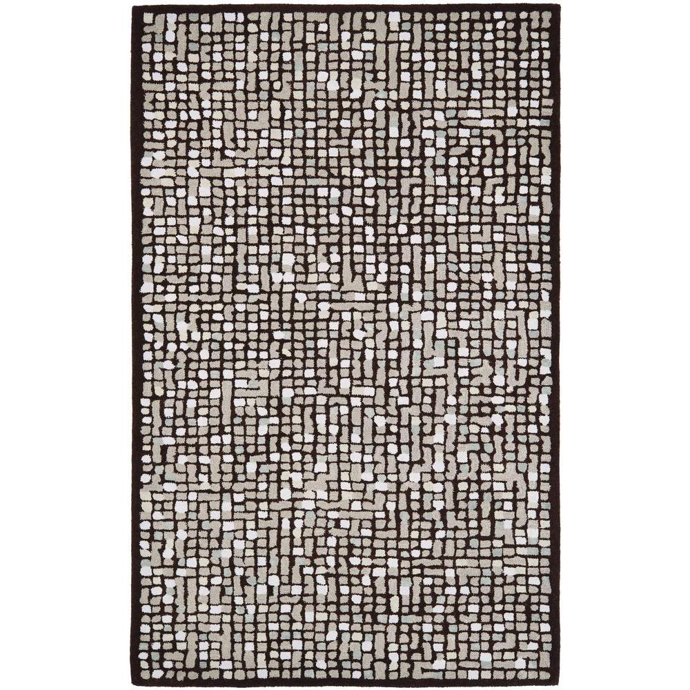 Mosaic Brown 5 ft. x 8 ft. Area Rug