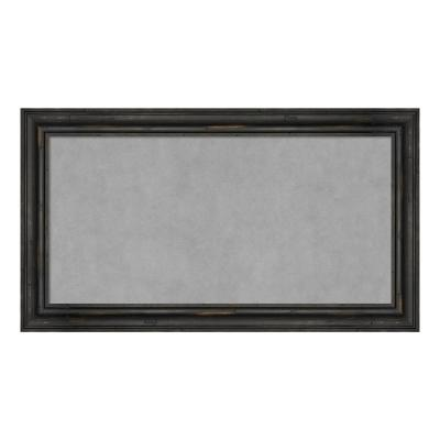 Rustic Pine Black Narrow Framed Magnetic Memo Board