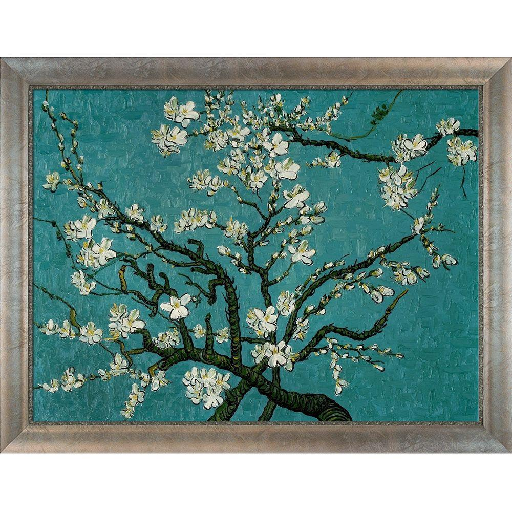 null 36 in. x 48 in. Branches of an Almond Tree in Blossom Hand Painted Classic Artwork-DISCONTINUED