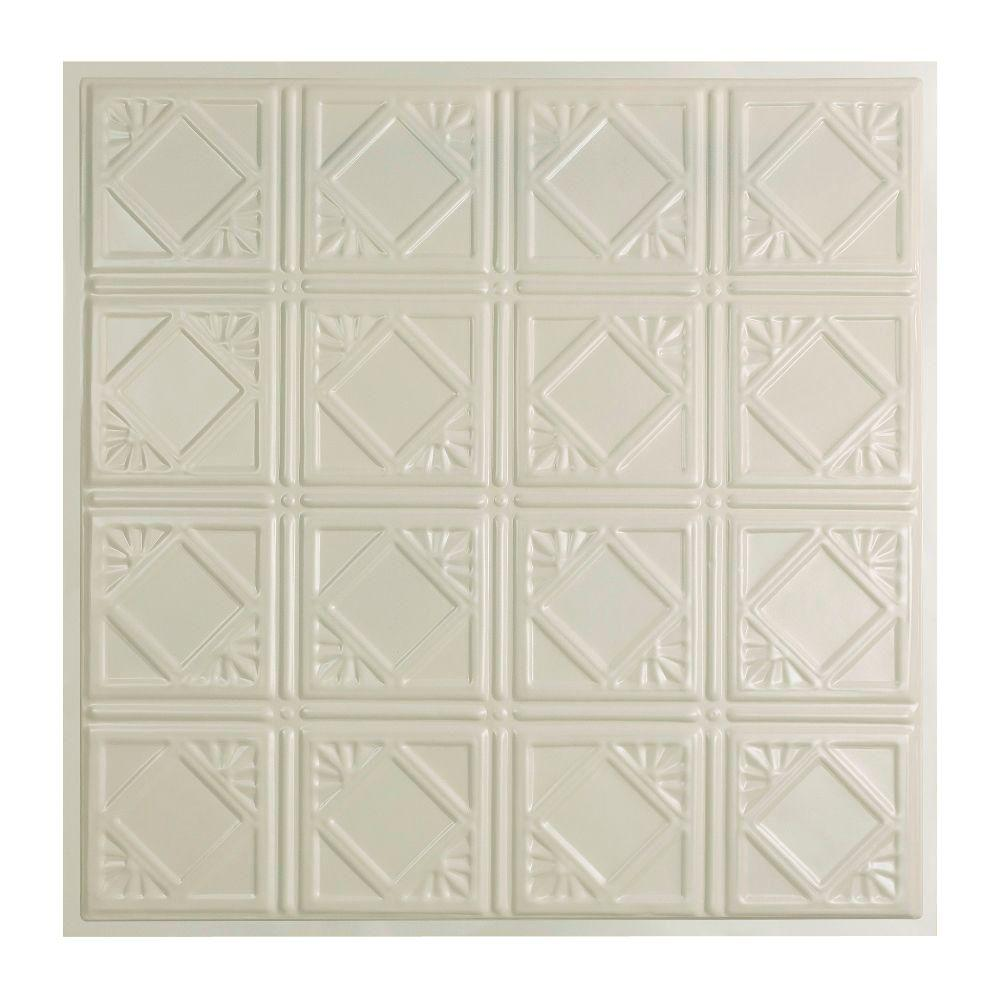 Tin style drop ceiling tiles ceiling tiles the home depot lay in tin ceiling tile in dailygadgetfo Images