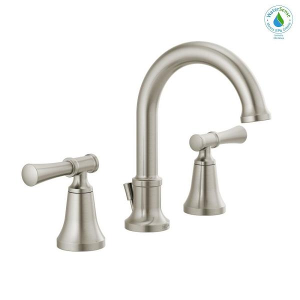 Chamberlain 8 in. Widespread 2-Handle Bathroom Faucet in SpotShield Brushed Nickel