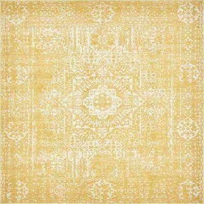 Tradition Bouquet Yellow 8' 4 x 8' 4 Square Rug