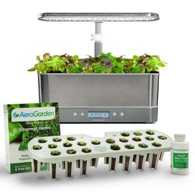 Harvest Elite Slim, Stainless Steel with Seed Starting System Bundle