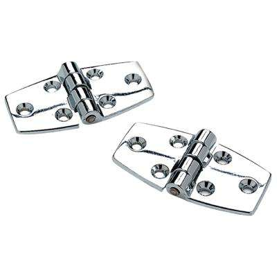 Utility Hinges with 120 Degree Opening in Chrome Plated Zinc