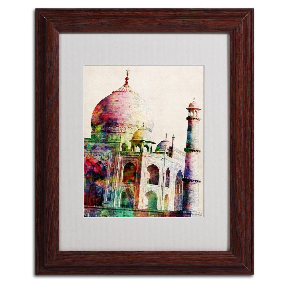 11 in. x 14 in. Taj Mahal Framed Matted Art