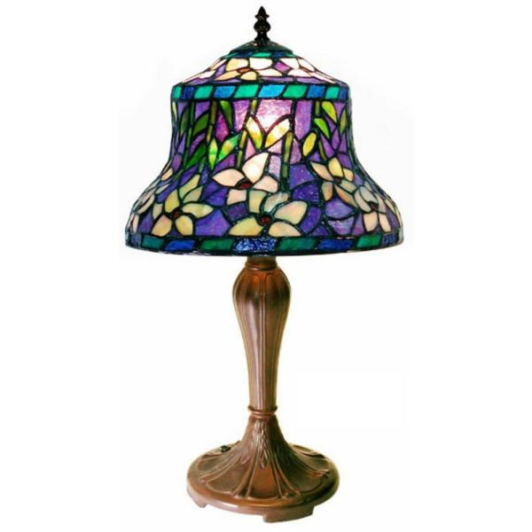 20 in. Blue Multicolored Table Lamp