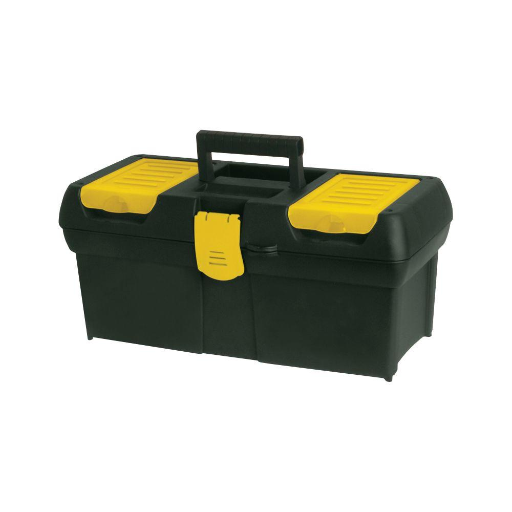 Stanley 16 in. Tool Box with Lid Organizers, Black